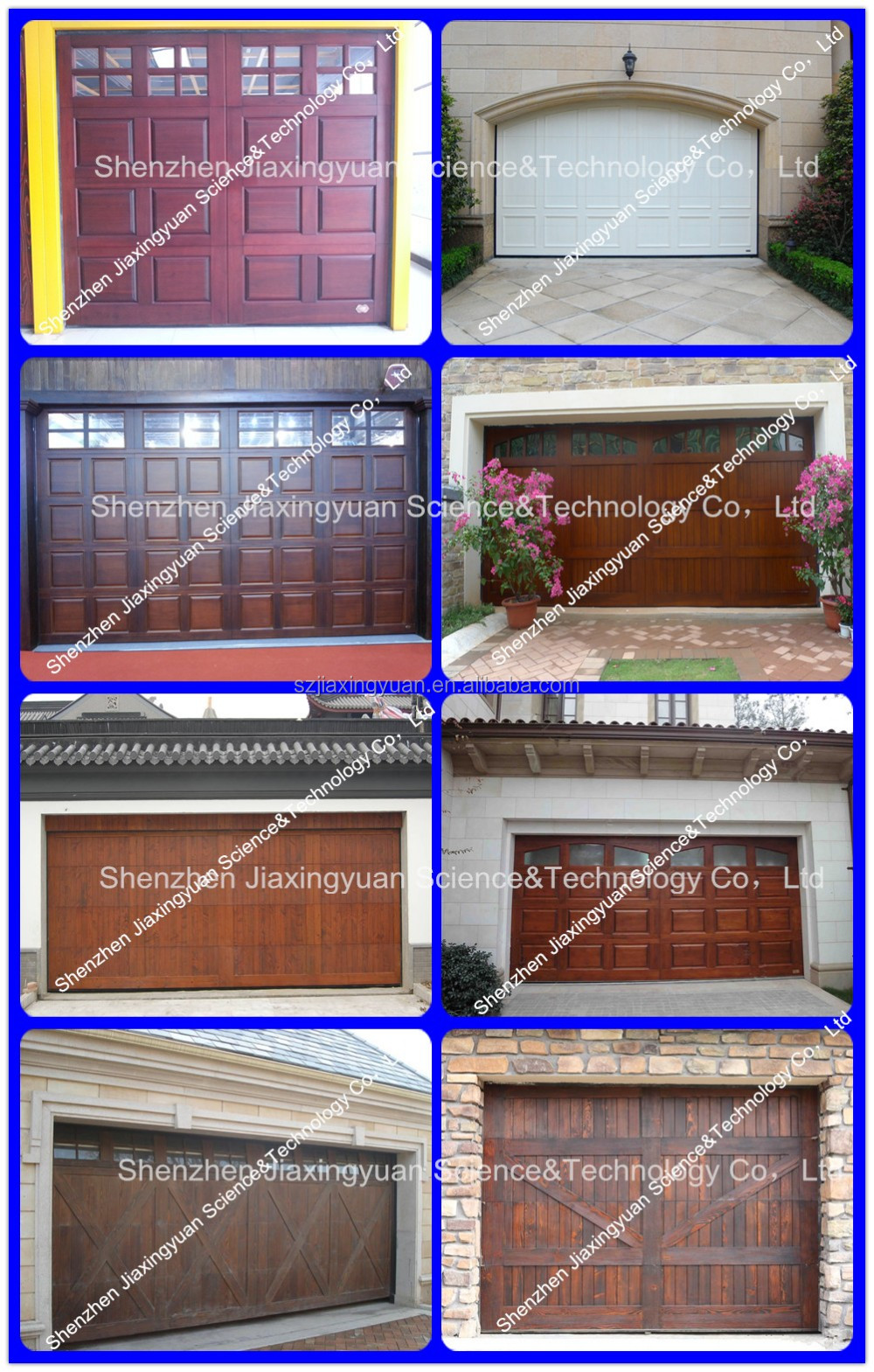 Wood Garage Door With Brass Inserts