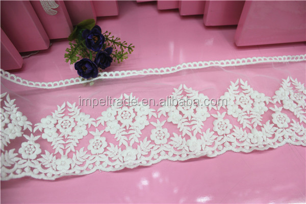 Mesh fabric embroidery for fashion handset