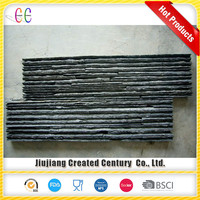 Cheap natural surface cultured stone veneer black wall claddings slate ledgestone