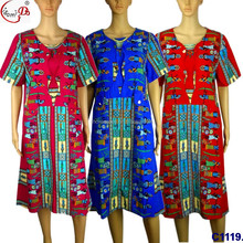 2017 newest design nigerian women cloth C1119-4 blue african ladies party dress xxl ladies designer clothes