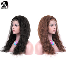 Angelbella Natural Indian Human Hair Wigs Used Half Lace Clip In Hair Wigs For Sale