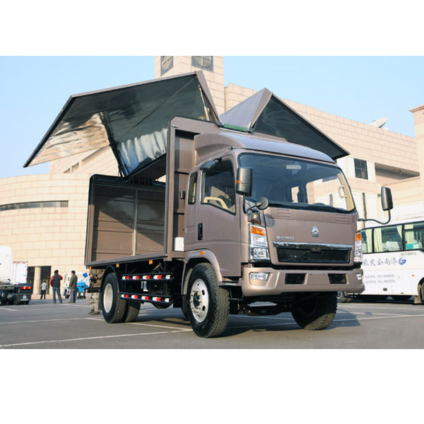 chinese sino howo wing open van cargo body truck for sale
