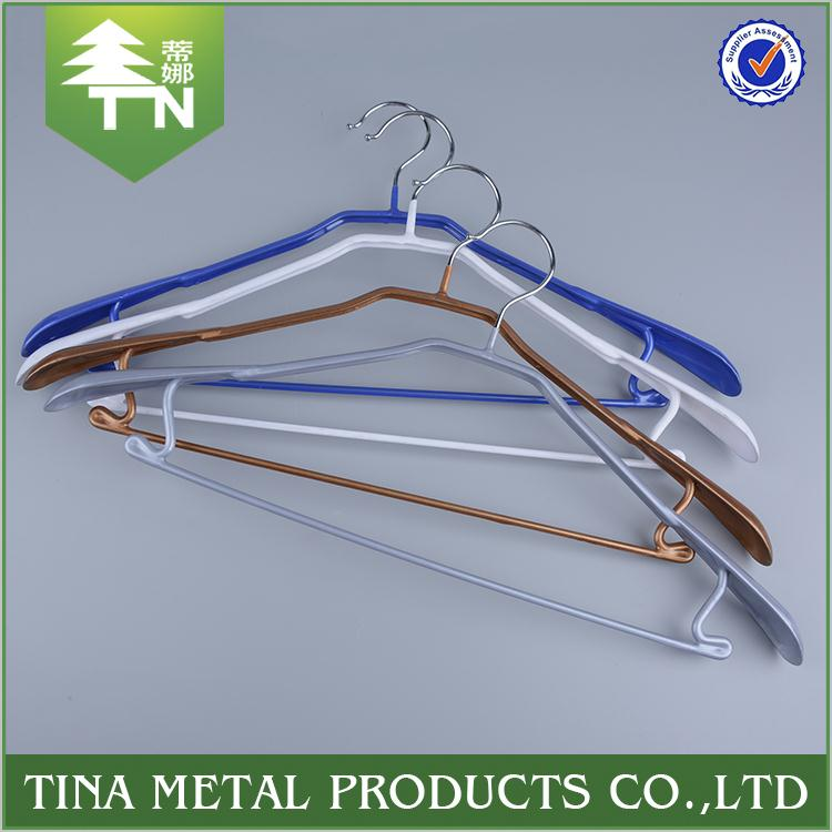 Good selling new design fashion flat plastic hanger for clothes