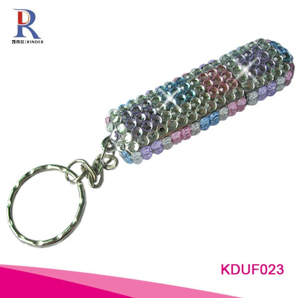 Rhinestone bling bling double sided pen drive