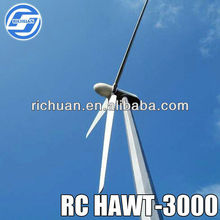 RICHUAN 3KW Wind energy power Turbine generators system horizontal China low speed