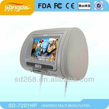 7 inch universal headrest dvd monitor with usb/sd/dvd