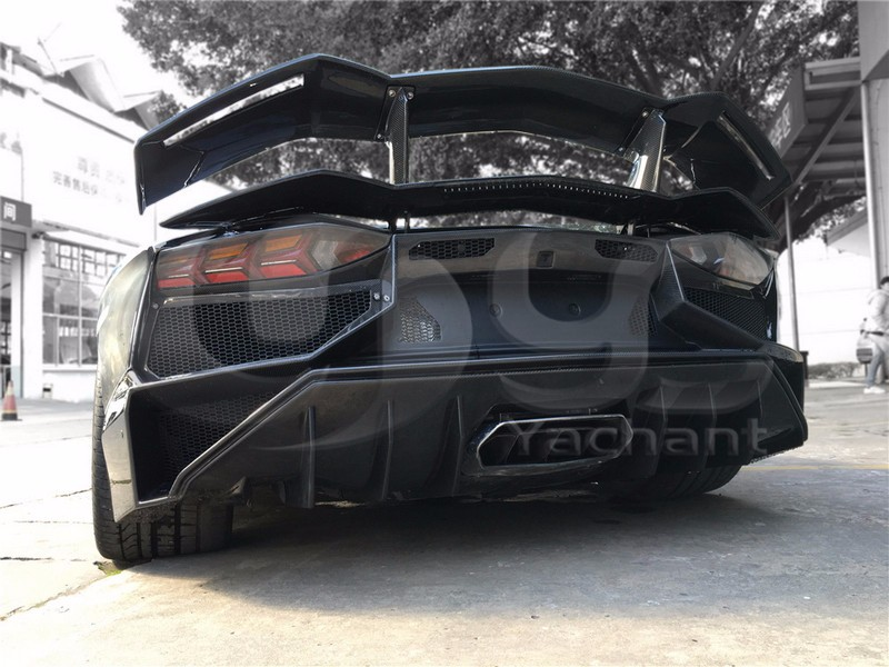 Trade Assurance Carbon Fiber Car Bodykit Rear Bumper Fit For 2011-2014 Aventador LP700 LP720 BKSS-750 Style Rear Bumper