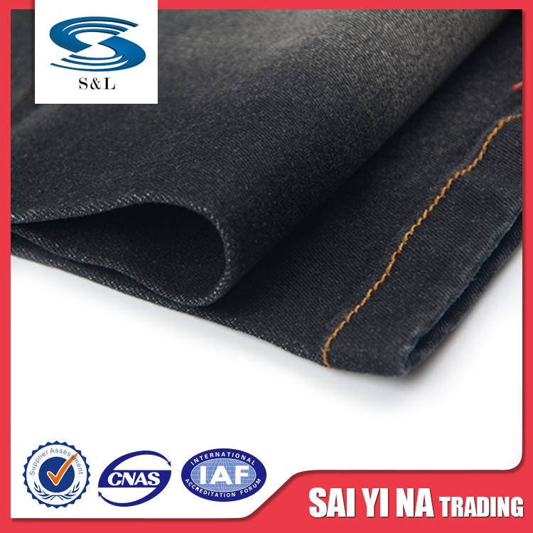 Cheaper light weight twill cotton spandex woven denim fabric