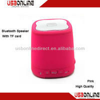 Pink high quality bluetooth speaker with TF card /external audio input& phone handsfree function