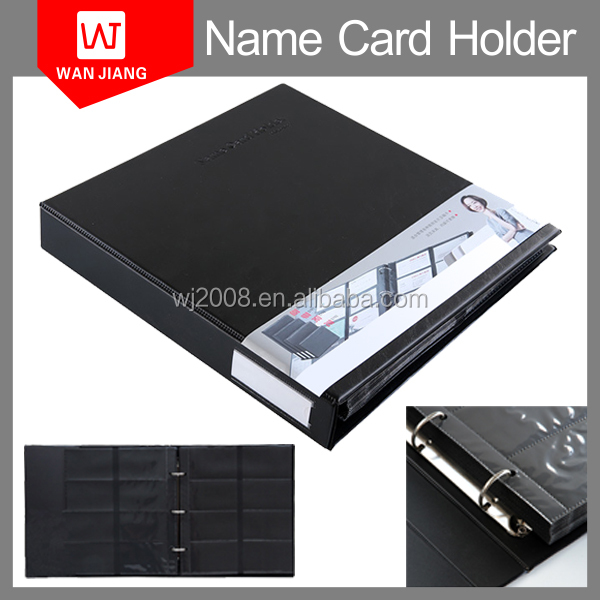 4/4 Pockets Plastic name card display book/ factory price OEM