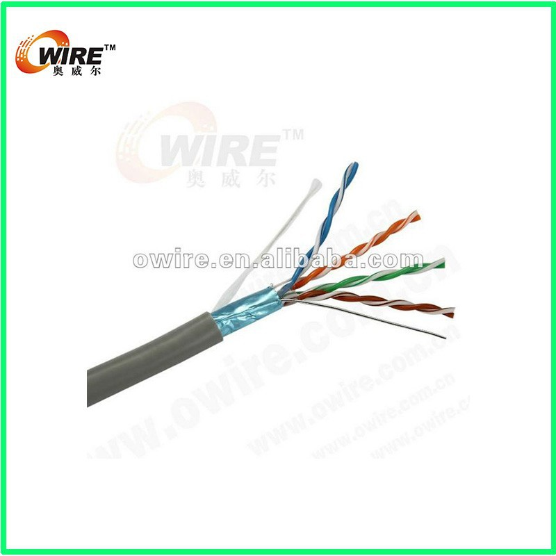 Wired Home Cat 5e Shielded CMR Solid 100 MHz Blue 500 ft