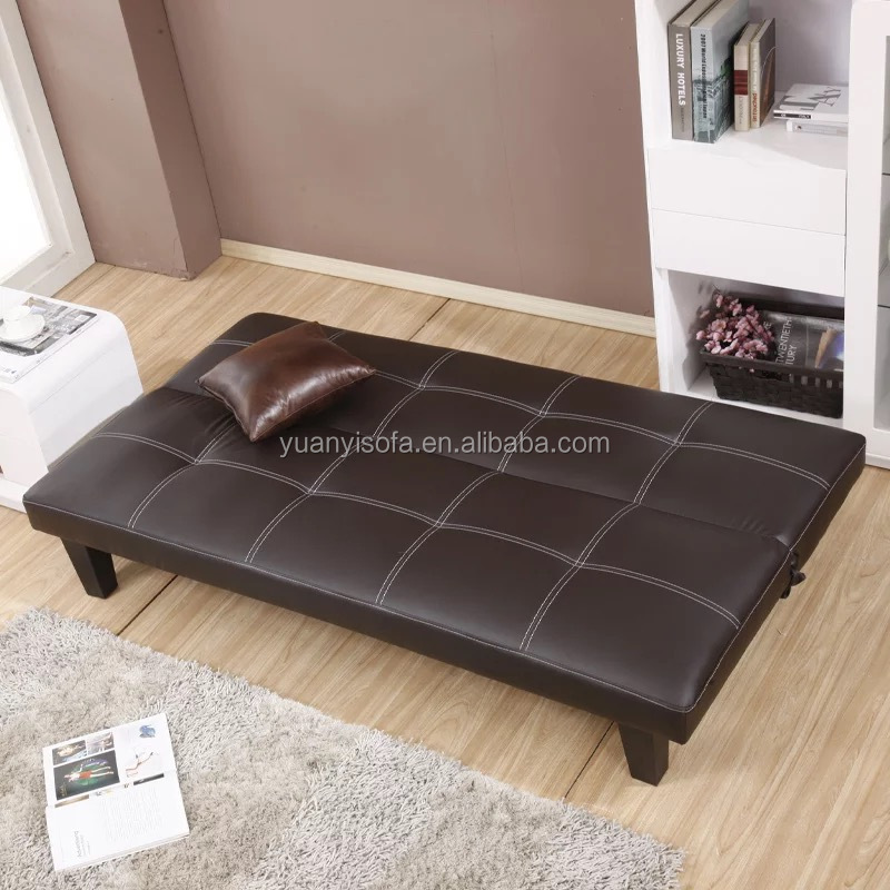 Low price leather folding bed sofa,modern cheap sofa cum bed YB2210