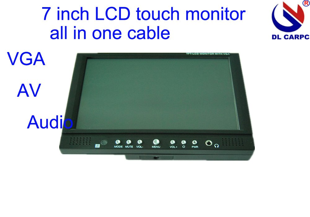 7 inch vga touch lcd car monitor with usb