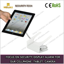 Charger alarm laptop stand for display with security