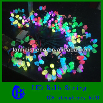 high quality unique strawberry light, Christmas light, string light, pixel light, color changing