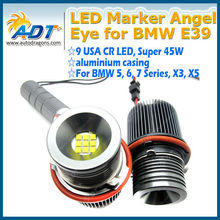 45W White led ANGEL EYES LED HALO Ring led Marker Light for BMW E39 E53 E60 E61