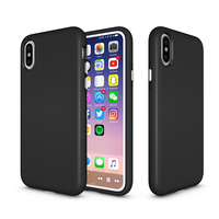 Fashion 3 in 1 Football Texture Cover TPU+PC+Silicone Shockproof Case for iPhone X