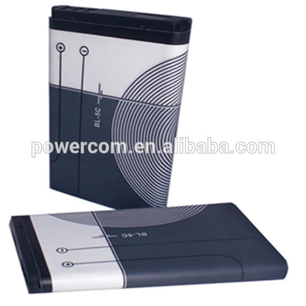 China factory price mobile phone battery BL-5C 3.7V 1050mah for Nokia 1100/1108/1110/1112/1255/1600/2112/2255/2280/2300