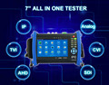 Manufacturer biggest discount 1080p CVI TVI AHD SDI all in one fullest function cctv IP and Analog camera tester