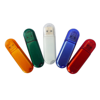 USB 2.0 bright transparent business use thumb pendrive memory stick Flash Drive u disk 2GB 4GB 8GB 16GB 32GB 64GB