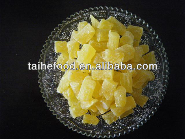 sweet taste dried pineapple cubes/dices/cores with good price