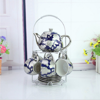 wholesale European style woderful hotel ceramic coffee sets