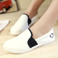 2014 new ultra-comfortable flat shoes casual canvas shoes white shoes