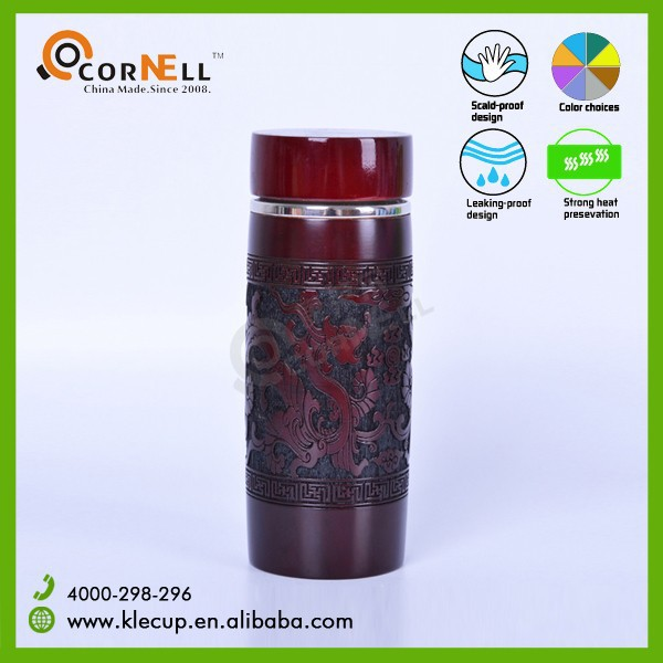 Hot New Products for 2015 Unique High-Grade Wooden Thermos Healthy Thermos Hydro Flask Vacuum Flask Coffee Thermos