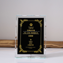 Economical black crystal memorial plaques for souvenirs gifts