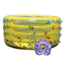 4 Rings swimming pool round shape bath tubs with printing