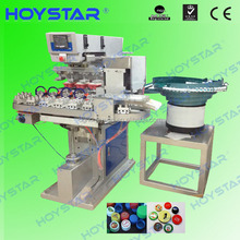 4 color automatic tampon printing machine for plastic bottle cap