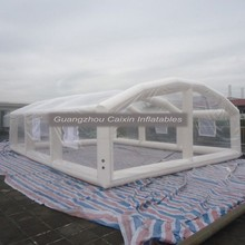 Fire resistant inflatable tennis dome tent for party event, waterproof inflatable warehouse tent