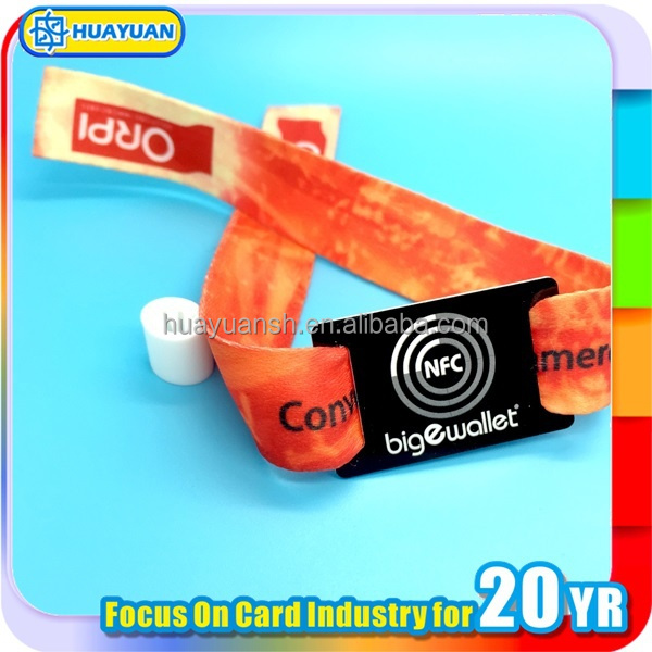 Ntag203 music festival fabric wristband woven bracelet RFID special Offer