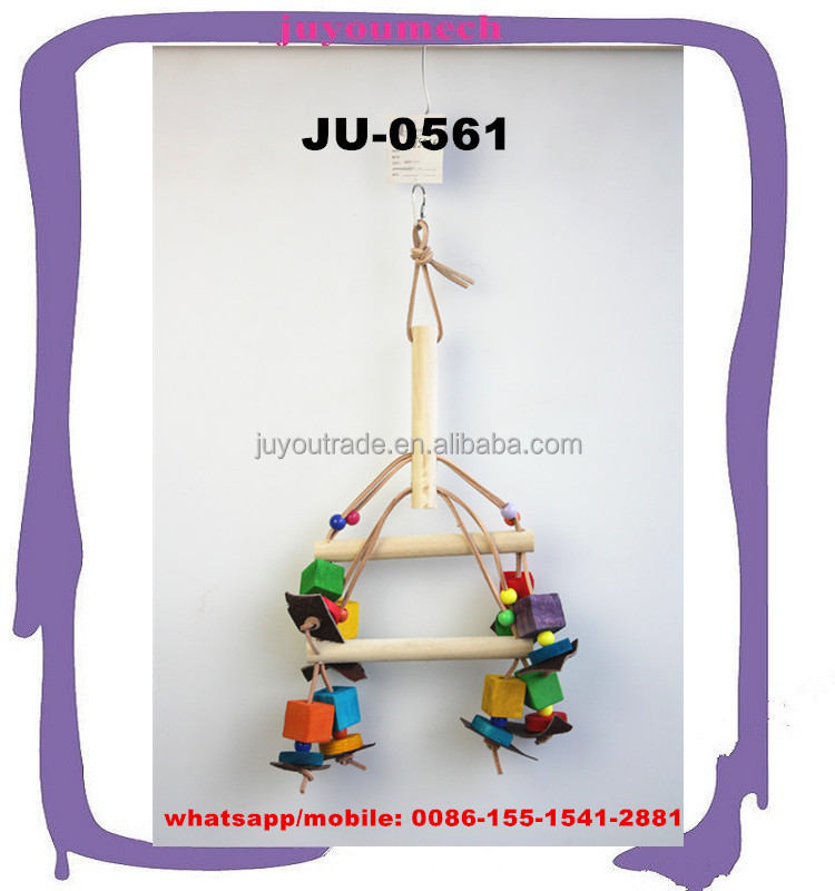 Wholesale Price Wood Balancing Bird Toy/Wooden bird perches JU-0561