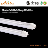 T8 10 watt 4000K led tube light compatible with ballast ce rohs emc tuv dlc ul cul listed