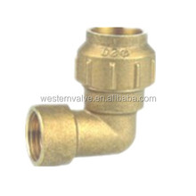 Brass Elbow Pipe Fitting PE pipe fitting