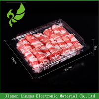 PP White vacuum forming plastic sliced pork and meat packing tray for transportation
