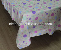 Cream Color Dot Print 100% Cotton Tablecloth 145X185cm