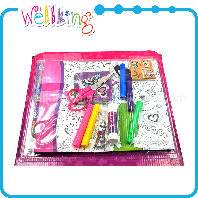 Children paint tools patterned paint roller with tray