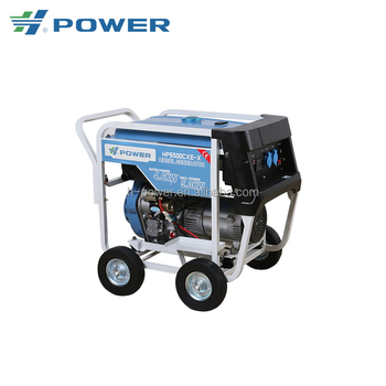 high capacity portable low rpm open type diesel generator 5kw for home use HP-6500CXE