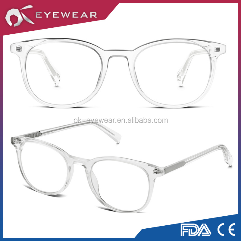 Prescription Wholesale Handmade Square Eyewear Clear Fashion Optical Frame