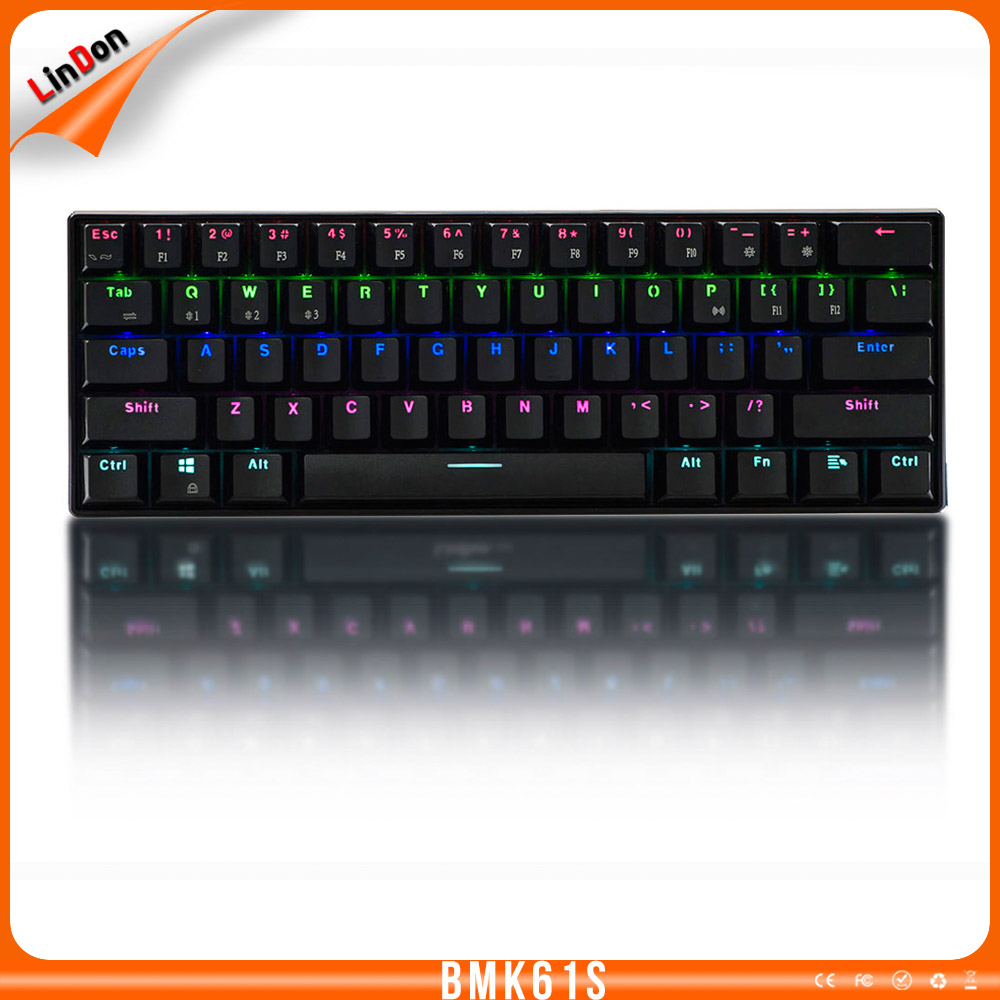 Tactile Clicky blue switch keyboard wireless mechanical keyboard with backlit