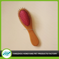Dog round wooden handle cleaning brush
