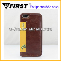 Insert a card slot hard back cover Case For iphone 5 5s 5g