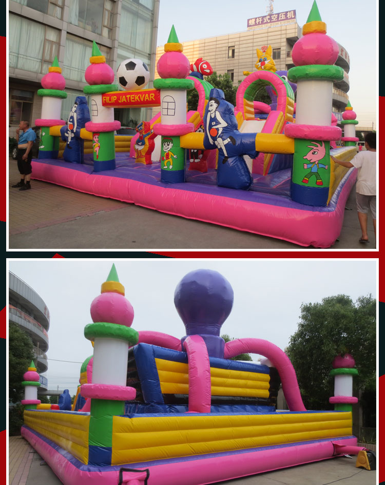 inflatable jumping castle combo for sale