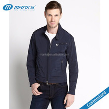 High Quality Custom Made Men 100% Polyester Navy Cheap Windbreaker Jacket