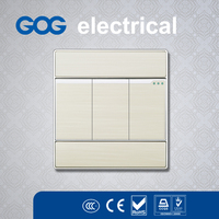 OEM /Decoration british Hot selling 1 gang switch with light 3 gang wall switch high quality socket