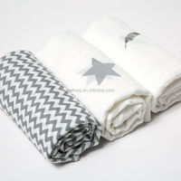 47*47 inch size 100% muslin organic bamboo cotton baby swaddle blanket