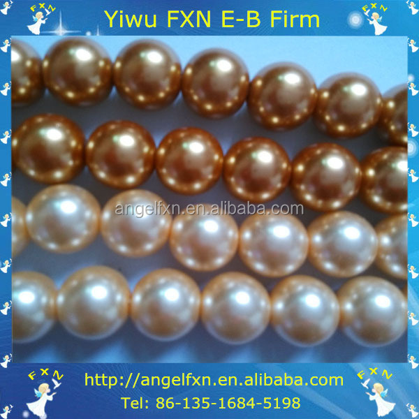 round glass pearl plastic beads