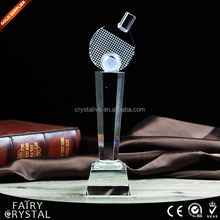 K9 Crystal Glass Female and Male Table Tennis Trophy